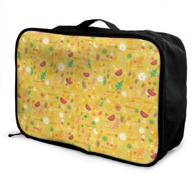 ボストンバッグ キャリーオンバッグ 葉 イエロー ガーメントバッグ 手提げ バッグ 旅行 トラベルバッグ フォールディングバッグ