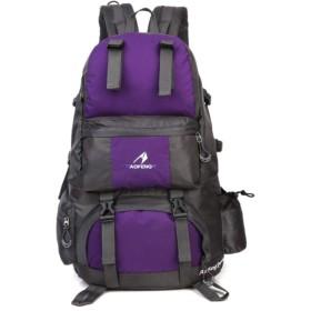 袋を登山大容量防水アウトドアスポーツの男性と女性は、バックパック旅行します,紫の