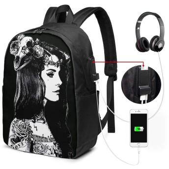 大容量のバックパック USBインターフェイス付きバックパック Lana Del Rey 外部USBインターフェイス、1つのヘッドフォンケーブルインターフェイス 学校、アウトドアスポーツ、旅行、登山、サイクリングに適しています