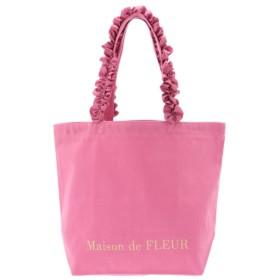 【メゾンドフルール/Maison de FLEUR】 フリルハンドルトートMバッグ