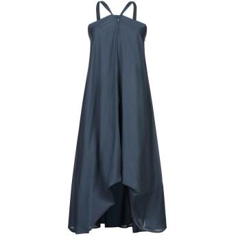 《セール開催中》MALLONI レディース ミニワンピース&ドレス ブルーグレー 40 コットン 100%