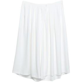 《セール開催中》ANONYME DESIGNERS レディース 7分丈スカート ホワイト 46 ポリエステル 100%