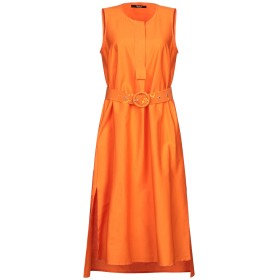 《期間限定セール開催中!》SISTE' S レディース 7分丈ワンピース・ドレス オレンジ XS コットン 97% / ポリウレタン 3%