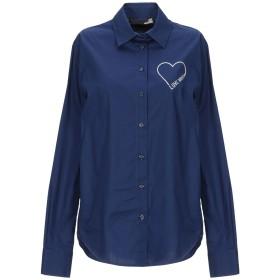 《セール開催中》LOVE MOSCHINO レディース シャツ ブルー 38 コットン 97% / ポリウレタン 3%