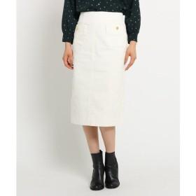 Dessin / デッサン ボタンポケットコーデュロイタイトスカート