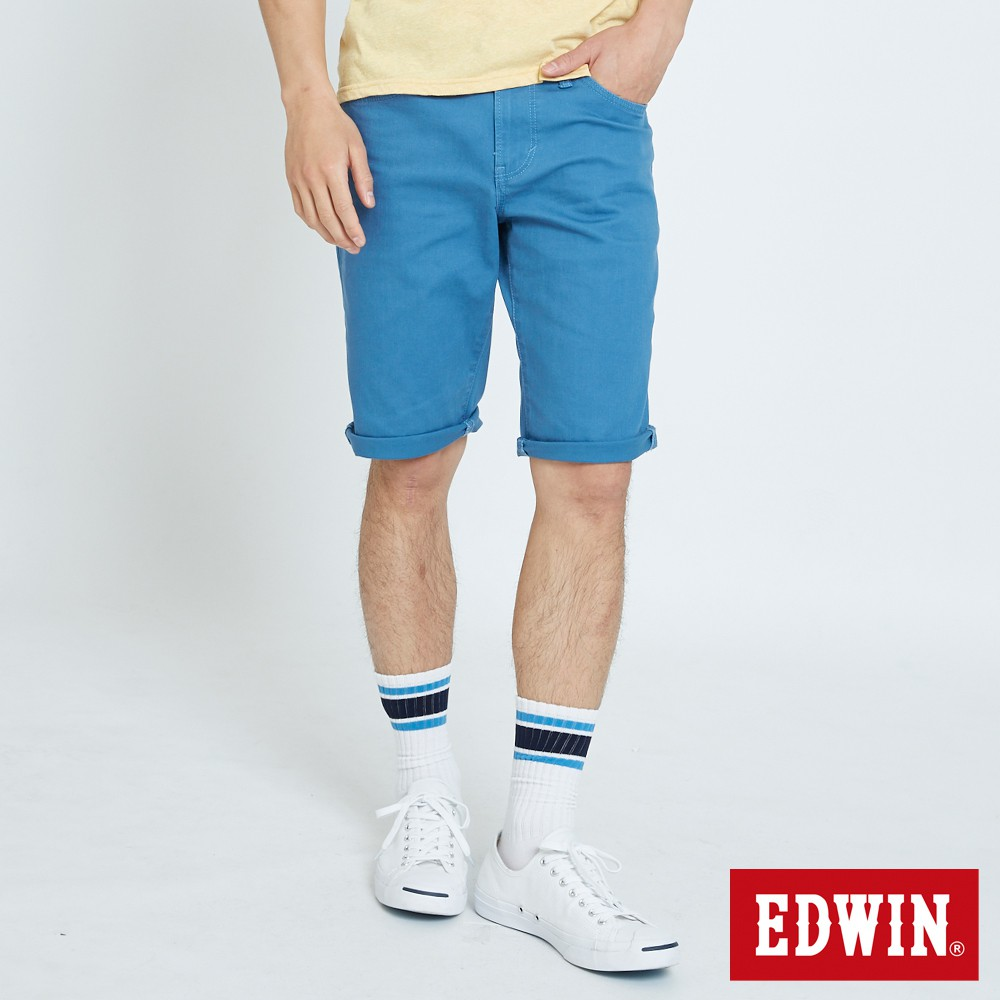 EDWIN 503基本五袋休閒短褲(藍色)-男款