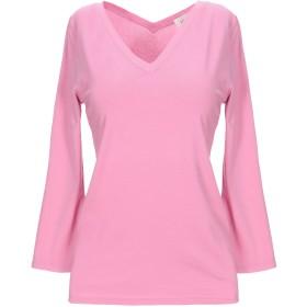 《セール開催中》LAMBERTO LOSANI レディース T シャツ ピンク 40 コットン 92% / ポリウレタン 8%
