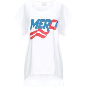 《セール開催中》,MERCI レディース T シャツ ホワイト M コットン 100%