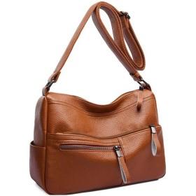 女性のシングルショルダーメッセンジャーバッグ、多機能大容量レザーバッグ、ファッションワイルドハンドバッグ