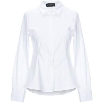 《セール開催中》VANESSA SCOTT レディース シャツ ホワイト M コットン 68% / レーヨン 28% / ポリウレタン 4%
