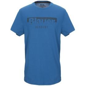 《セール開催中》BLAUER メンズ T シャツ アジュールブルー S コットン 100%