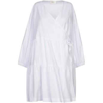 《セール開催中》VICOLO レディース ミニワンピース&ドレス ホワイト S コットン 100%