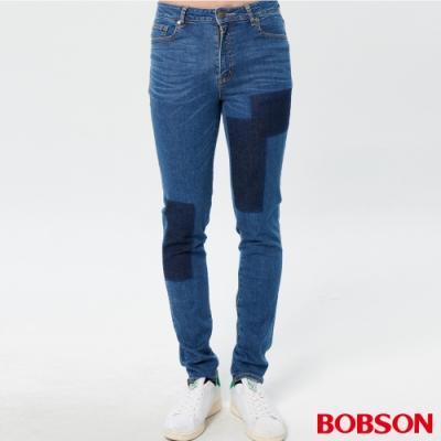 BOBSON 男款有機綿高腰窄管褲