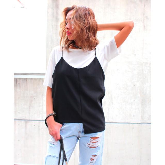 【セール開催中】ANAP(アナップ)Tシャツ+ジョーゼットキャミ2点セット