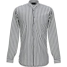 《期間限定セール開催中!》GAZZARRINI メンズ シャツ グレー S コットン 100%
