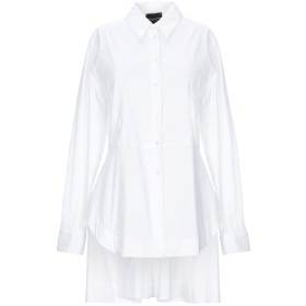 《セール開催中》ATOS LOMBARDINI レディース シャツ ホワイト 40 コットン 79% / ナイロン 18% / ポリウレタン 3%