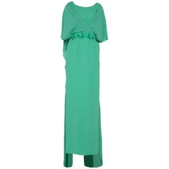 《セール開催中》IVAN MONTESI レディース ロングワンピース&ドレス グリーン 40 シルク 96% / ポリウレタン 4% / アセテート / レーヨン