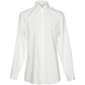《セール開催中》UNGARO メンズ シャツ ホワイト 39 コットン 100%