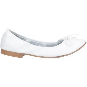 《セール開催中》FRANCESCO MILANO レディース バレエシューズ ホワイト 35 紡績繊維