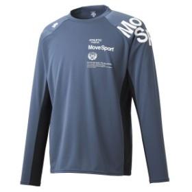 【セール】 デサント メンズスポーツウェア 長袖機能Tシャツ HEAT NAVI 長袖シャツ DMMOJB61 GY メンズ GY