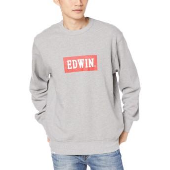 [エドウィン] スウェット 着回しやすくて今っぽいロゴプリントスウェット メンズ ET5801 グレー 日本 XL (日本サイズXL相当)