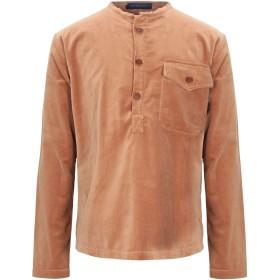 《セール開催中》JEJIA メンズ シャツ キャメル S コットン 100%