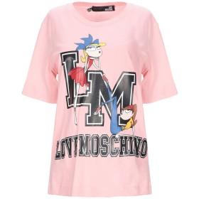 《セール開催中》LOVE MOSCHINO レディース T シャツ ピンク 40 コットン 100%
