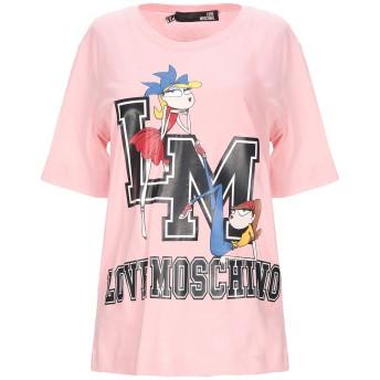 《セール開催中》LOVE MOSCHINO レディース T シャツ ピンク 42 コットン 100%