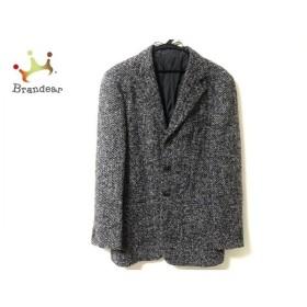アルマーニコレッツォーニ ARMANICOLLEZIONI コート メンズ 美品 黒×アイボリー 春・秋物 新着 20190927
