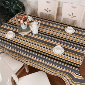 テーブルクロス 長方形 テーブルクロスの色ストライプキャンバス長方形のテーブルクロスシンプルモダン簡単にきれいにできるテーブルクロスリビングルームのテーブルコーヒーテーブルやその他の防水のやけど防止に適しています。 (Size : 7272cm)