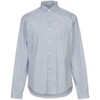 《セール開催中》AGLINI メンズ シャツ ダークブルー 42 コットン 78% / ナイロン 18% / ポリウレタン 4%