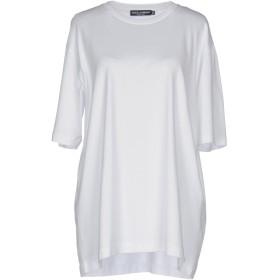 《セール開催中》DOLCE & GABBANA レディース T シャツ ホワイト 50 100% コットン