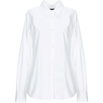 《セール開催中》LOVE MOSCHINO レディース シャツ ホワイト 38 コットン 97% / ポリウレタン 3%