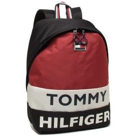 [トミーヒルフィガー]リュック バックパック メンズ レディース TOMMY HILFIGER TC980AE9 BLACK/WHT/RED マルチ [並行輸入品]