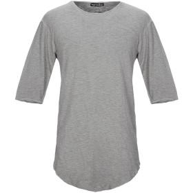 《セール開催中》PEOPLEHOUSE メンズ T シャツ グレー M コットン 95% / ポリウレタン 5%