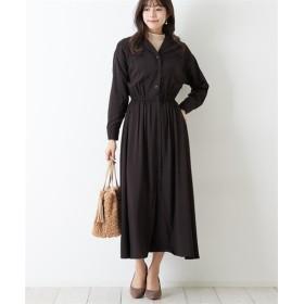 通勤におすすめ♪ 開襟シャツワンピース (ワンピース),dress