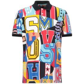 《期間限定セール開催中!》LOVE MOSCHINO メンズ ポロシャツ ブラック XS コットン 100%