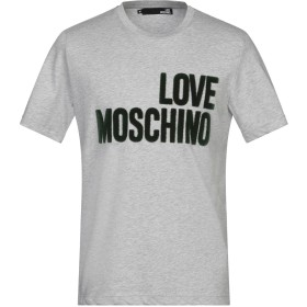 《セール開催中》LOVE MOSCHINO メンズ T シャツ グレー XS コットン 100%
