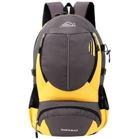 防水ショルダーハイキングバックパック男性、多機能大容量トラベルバッグハイキング、防水、ウェアラブル2019新しい-yellow