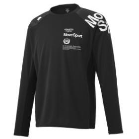 【セール】 デサント メンズスポーツウェア 長袖機能Tシャツ HEAT NAVI 長袖シャツ DMMOJB61 BK メンズ BK