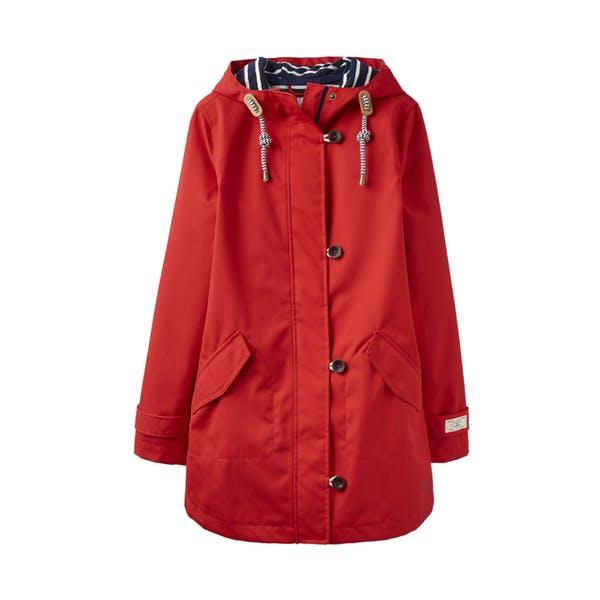 跩狗嚴選特價代購 英國 JOULES Coast 防風 防水 連帽 外套 中長版 風衣 雨衣 復古紅 正紅