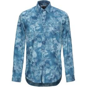 《期間限定セール開催中!》HAMAKI-HO メンズ シャツ ブルーグレー S コットン 100%