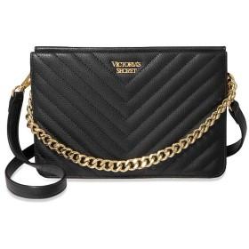 Victoria's Secret(ヴィクトリアシークレット) Vキルト クロスボディ 2way ショルダーバッグ クラッチバッグ ブラック [並行輸入品]