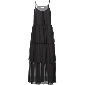 《セール開催中》VICOLO レディース 7分丈ワンピース・ドレス ブラック S ポリエステル 100%