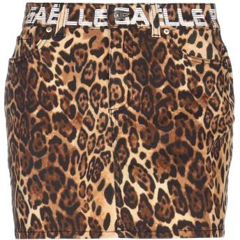 《セール開催中》GALLE Paris レディース ミニスカート ブラウン 26 コットン 97% / ポリウレタン 3%