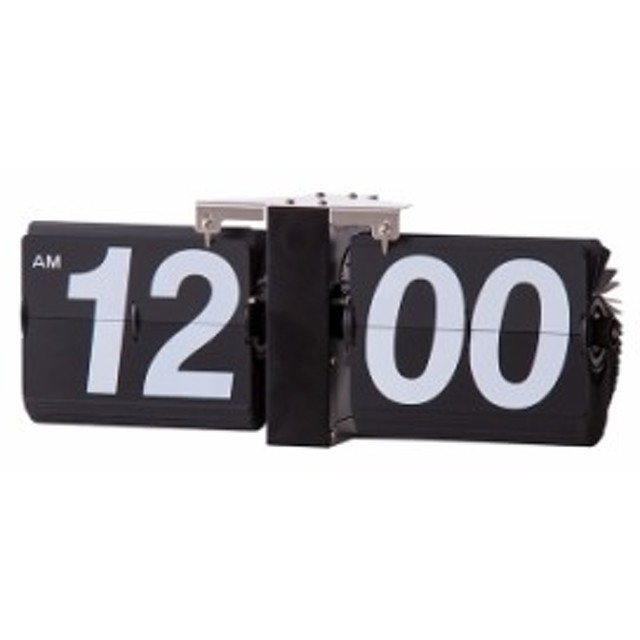 フリップクロック スチール粉体塗装 幅36×奥行8.5×高さ14cm 時計 クロック 壁掛け 置き時計 部屋 インテリア おしゃれ 玄関 リビング