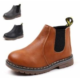 子供靴 マーチンブーツ ベビー キッズ 春秋冬 革靴 サイドジッパー 男の子 女の子 男女兼用 無地 シンプル 通気性 滑り止め