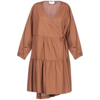 《セール開催中》VICOLO レディース ミニワンピース&ドレス ブラウン S コットン 100%