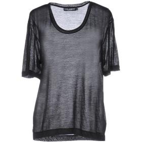 《セール開催中》DOLCE & GABBANA レディース T シャツ ブラック 36 レーヨン 80% / ナイロン 20%