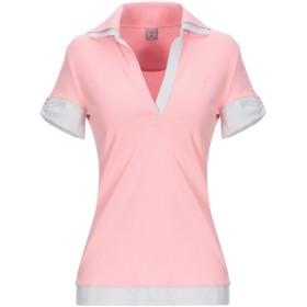 《セール開催中》F by FAY COLLECTION レディース ポロシャツ ピンク S コットン 94% / ポリウレタン 6%